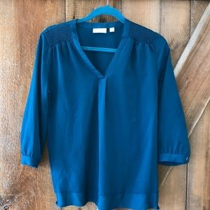 New York & Company teal blouse XS